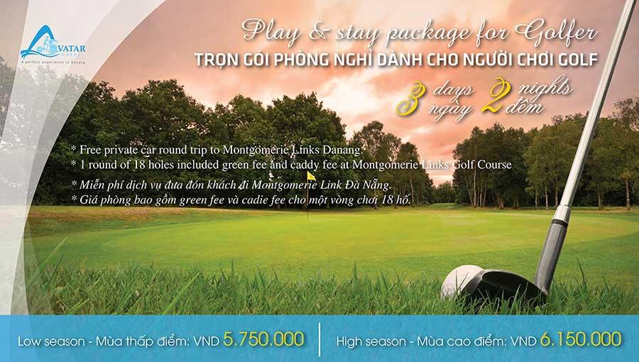 Gói nghỉ dưỡng cho người chơi Golf